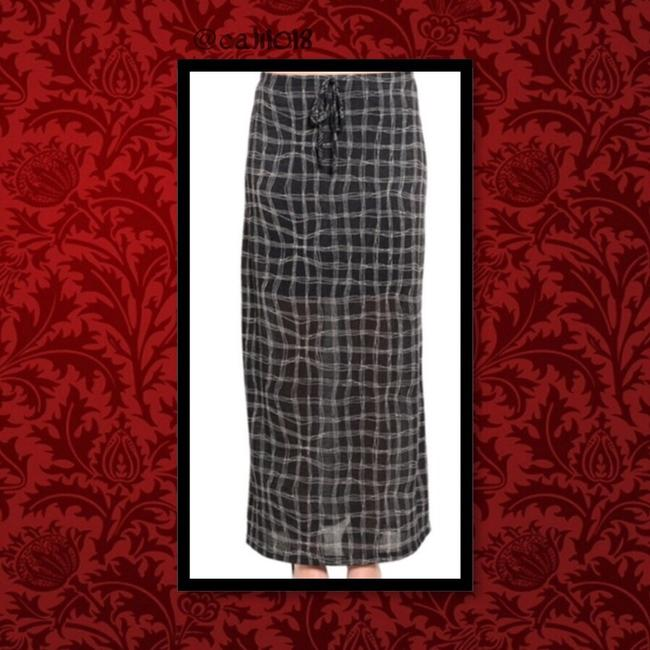 Other Long Casual Women Junior Maxi Skirt Black Checkered Image 1