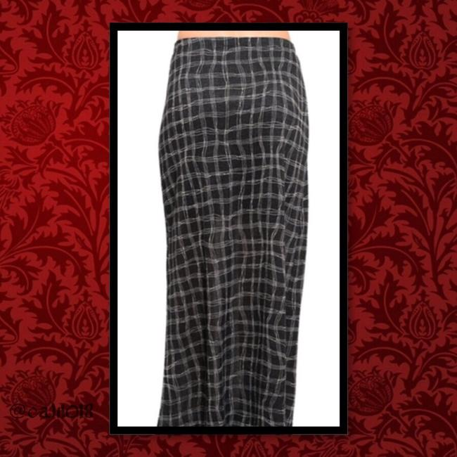 Other Long Casual Women Junior Maxi Skirt Black Checkered Image 2
