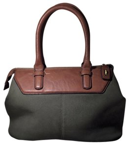 Prüne Prune Argentina Suede Leather Satchel in Olive & Brown
