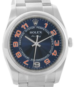 Rolex Rolex Air King Concentric Blue Rose Dial Watch 114200 Year 2011