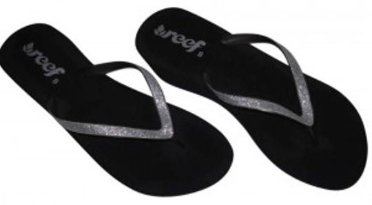 Preload https://item3.tradesy.com/images/reef-blacksilver-micro-glitter-spring-summer-flip-flop-sandals-size-us-8-140162-0-0.jpg?width=440&height=440