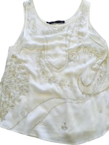Patterson J. Kincaid Beaded Tank Top ivory