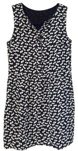 J.Crew short dress navy Tossed Hearts Half-placket Printed Prints on Tradesy