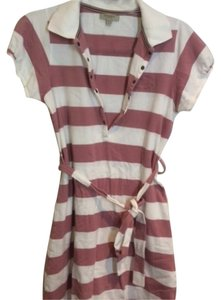 Burberry Brit short dress Off pink and white striped on Tradesy