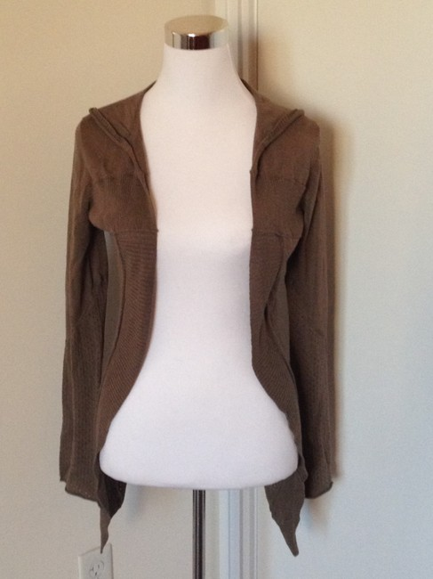DKNY Hooded Wrap-around High Low Cardigan