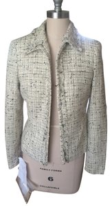 Casual Corner Tweed White Black Off-White Blazer