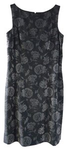 Nicole Miller Sheath Metallic Floral Dress