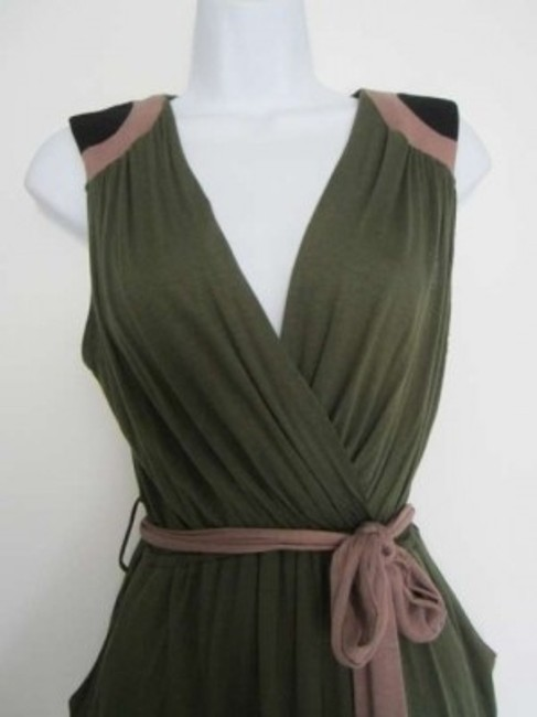 Monteau Los Angeles short dress Olive Green on Tradesy