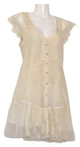 Free People short dress Ivory Lace Layered on Tradesy