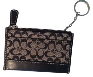Coach Black Coach Wallet with Keychain