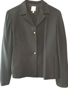 Anne Klein Wool Viscose Navy Blazer