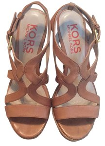 Michael Kors Tan Wedges
