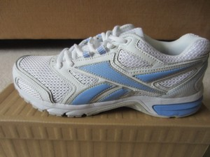 Reebok White and Blue Athletic