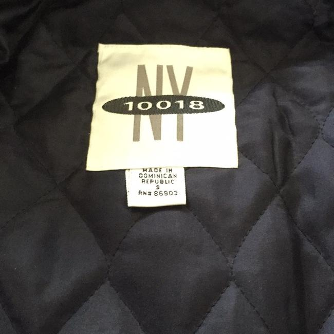 NY 10018 Belted Quilted Lining Blue Denim Womens Jean Jacket Image 7