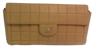 Chanel Chocolate Bar Lambskin East West Shoulder Bag