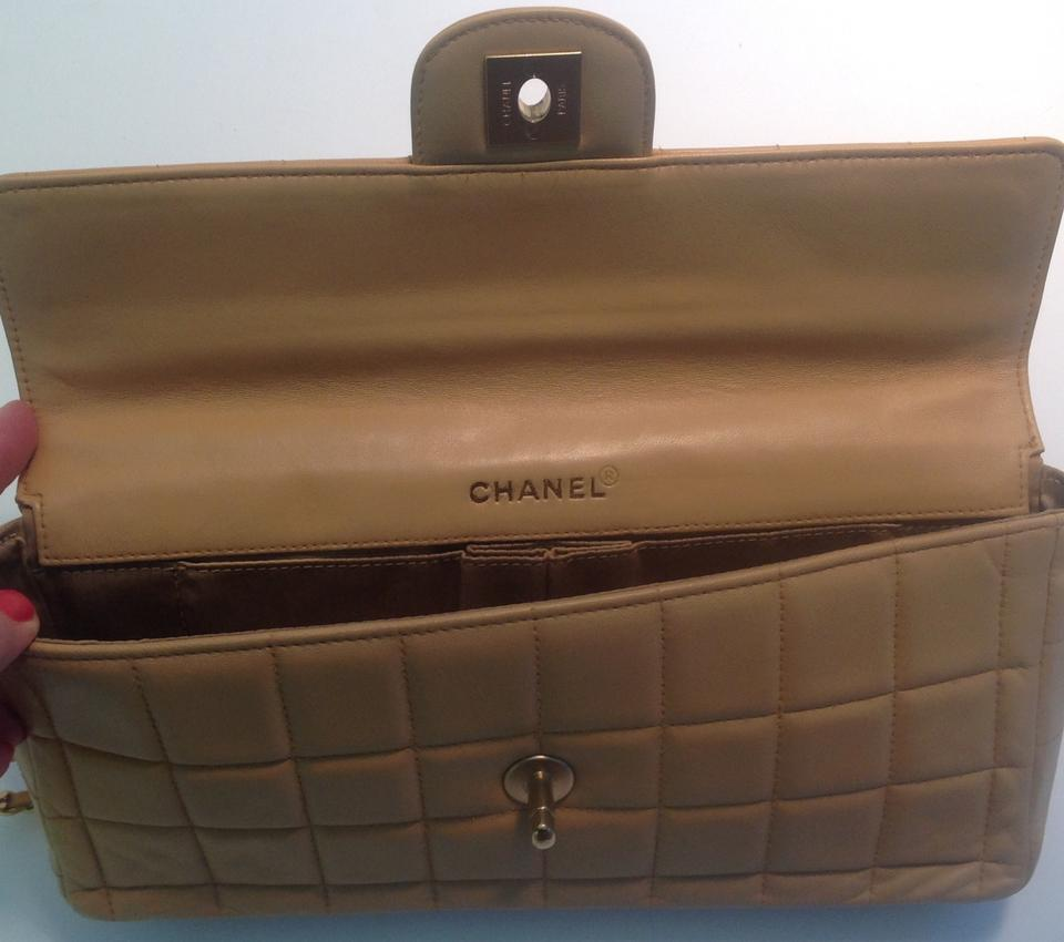 2a60f39cf520 Chanel Chocolate Bar Lambskin East West Baguette Shoulder Bag Image 10.  1234567891011