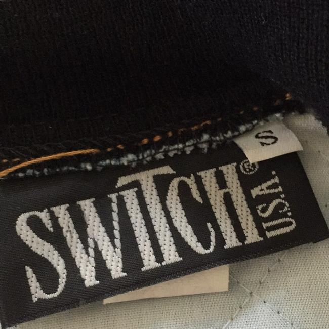 Switch Bomber Quilted Blue Denim Womens Jean Jacket Image 5