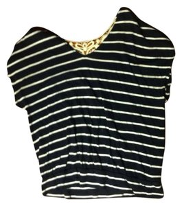 Express T Shirt Blue and White Striped