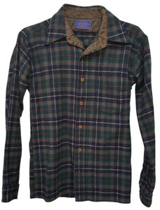Pendleton Button Down Shirt Green