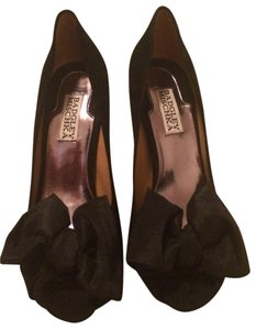 Badgley Mischka Bows Evening Cocktail Black Pumps