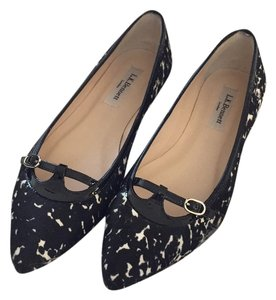 L.K. Bennett Black, white, animal print Flats