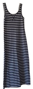 Navy and cream Maxi Dress by Ann Taylor LOFT