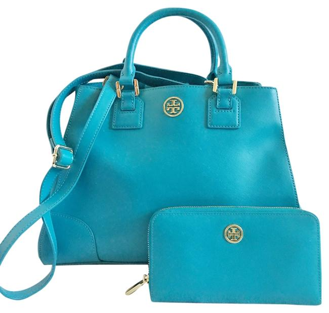 Tory Burch Robinson And Wallet Saffiano Satchel Tory Burch Robinson And Wallet Saffiano Satchel Image 1