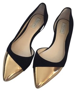 Cole Haan Black, gold Flats
