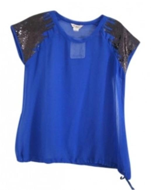 Preload https://item2.tradesy.com/images/blue-cobalt-sheer-blouse-by-fun-and-flirt-new-with-tags-night-out-top-size-12-l-140196-0-0.jpg?width=400&height=650
