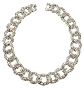 "Real Collectibles by Adrienne Real Collectibles by Adrienne ""Classic"" Pav Crystal Curb-Link 18"" Necklace"