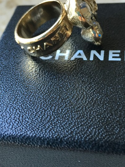 Chanel Chanel Classic CC Crystal Flower Camellia Ring Image 4