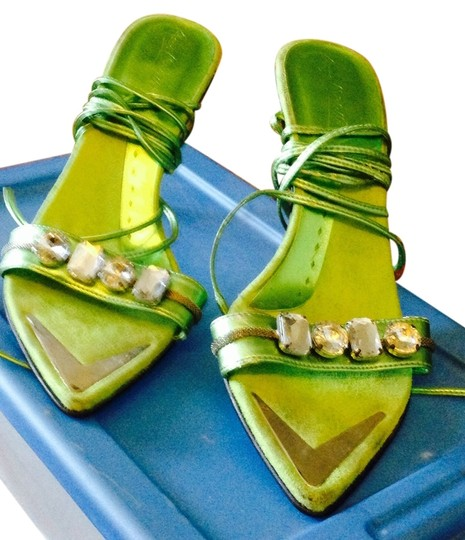 Anne Michelle Neon green Sandals
