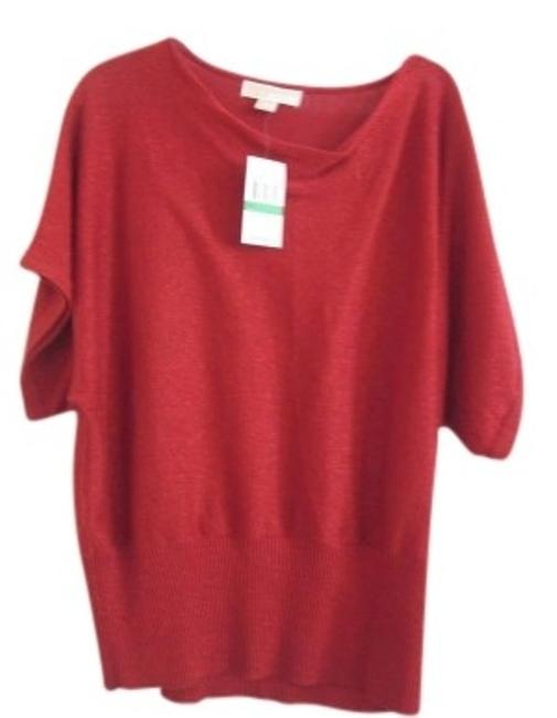 Preload https://item1.tradesy.com/images/michael-kors-red-metallic-new-with-tags-sweaterpullover-size-12-l-140205-0-0.jpg?width=400&height=650