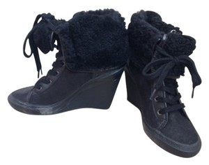 Ash Suede Ankle Black Boots