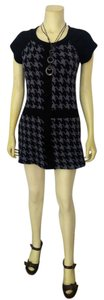 Robbie Bee short dress black gray P1986 Size Small Sweater on Tradesy