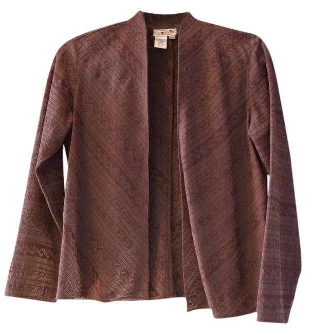 Preload https://img-static.tradesy.com/item/1402297/coldwater-creek-brown-jacket-embroidered-blazer-size-petite-2-xs-0-0-650-650.jpg