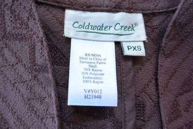 Coldwater Creek Jacket Embroidered Brown Blazer