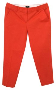 J.Crew Cropped Skimmer Cropped Capri/Cropped Pants Bright Warm Red