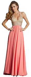 Night Moves Prom Collection Halter Beaded Dress