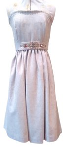 Banana Republic Jeweled Belted Wool Strapless Dress