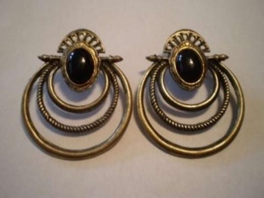 Preload https://img-static.tradesy.com/item/140240/bronze-wblack-stone-pierced-earrings-0-0-540-540.jpg