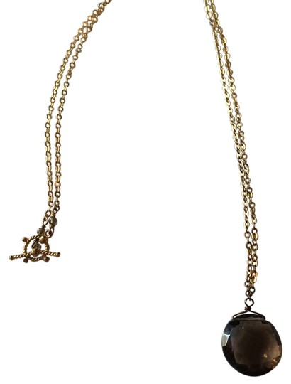 Preload https://img-static.tradesy.com/item/14024185/brown-offers-euc-gold-over-sterling-silver-and-faceted-smokey-quartz-necklace-0-1-540-540.jpg