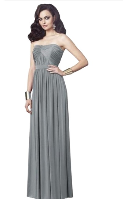 Item - Monument (Gray) 2914 Long Night Out Dress Size 12 (L)