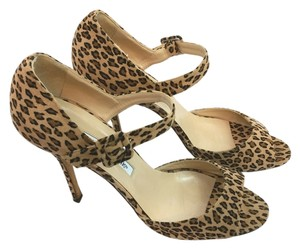 Manolo Blahnik Animal Print Heels Sandals