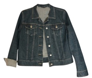 Lands' End Denim Denim Jean Womens Jean Jacket