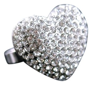 Other Sparkling 3D Heart Swarovski Crystal Ring