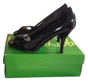 Sam & Libby Black Patent Leather Pumps