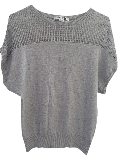 Forever 21 Fishnet Top gray