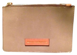 Dooney & Bourke Leather Pink Interior And New Wristlet in Taupe