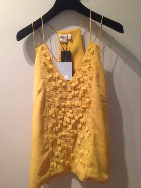 Sachin + Babi Decorative Alice And Olivia Rebecca Taylor Top Mustard Yellow